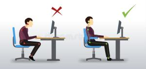 ergonomic-wrong-correct-sitting-posture-office-man-near-computer-monitor-84128446